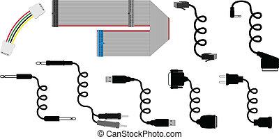 vettore, cavi, illustrazione