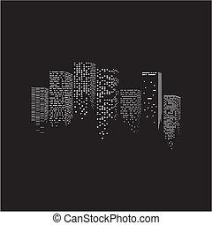 vettore, città, illustrazione