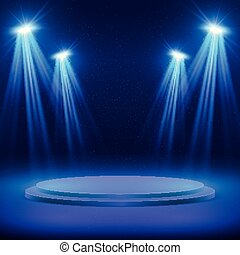 vettore, concerto, mostra, luce, macchia, lighting., fondo, esecuzione, palcoscenico