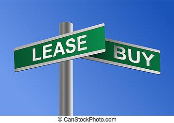 vettore, contratto affitto, incrocio, comprare, o