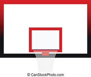 vettore, corte pallacanestro, asse, illustrazione