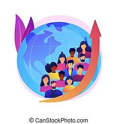 vettore, crescita, astratto, illustration., concetto, popolazione