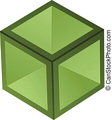 vettore, cubo, 3d