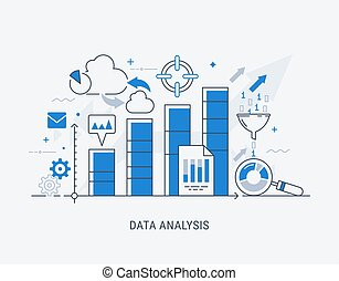 vettore, dati, analisi, illustrazione