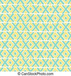 vettore, diamante, pattern., croce, seamless