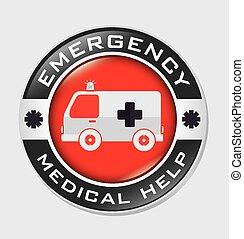 vettore, disegno, emergenza, illustration.