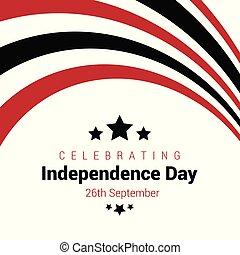 vettore, disegno, indipendenza, yemen, giorno, scheda
