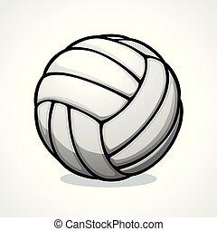 vettore, disegno, palla pallavolo, icona