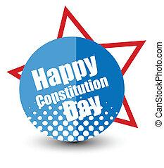 vettore, distintivo, costituzione, giorno