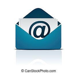 vettore, email, /, segno
