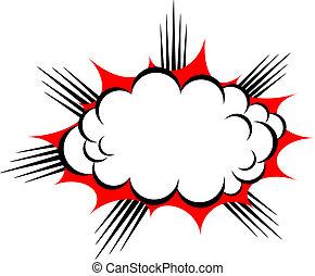 vettore, esplosione, nuvola