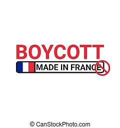 vettore, fatto, concetto, -, boicottaggio, francia