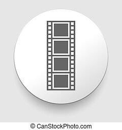 vettore, film, illustrazione, striscia