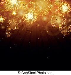vettore, fireworks