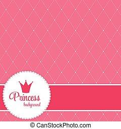 vettore, fondo, corona, principessa, illustration.