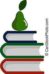 vettore, fondo., illustrazione, bianco, libri