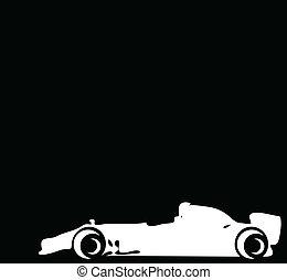 vettore, fondo, illustrazione, corsa