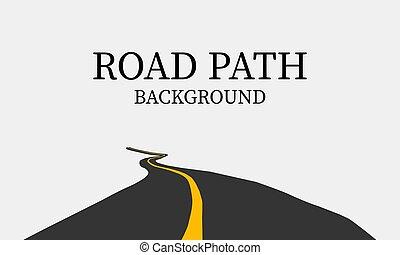 vettore, fondo., illustrazione, strada, sinuosità, curva, modo