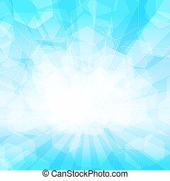 vettore, fondo, luce, illustrazione, blu, esagonale, astratto, shapes.