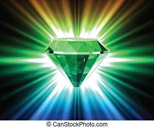 vettore, fondo., luminoso, diamante, colorito
