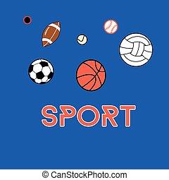 vettore, fondo, sport
