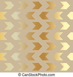 vettore, freccia, illustrazione, lusso, background-, dorato