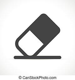 vettore, gomma, disegno, simbolo, icona