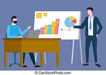 vettore, grafico, affari, internazionale, relazione