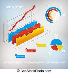 vettore, grafico, infographic, elemento