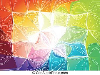 vettore, illustrazione, arcobaleno, fondo.