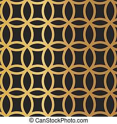 vettore, illustrazione, cerchio, lusso, background-, dorato