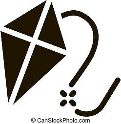 vettore, illustrazione, icona, glyph, cervo volante volo