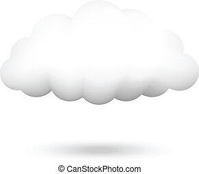 vettore, illustrazione, nuvola