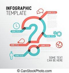 vettore, infographic, domanda, sagoma, marchio