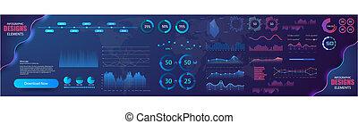 vettore, informazioni, statistica, finanza, visualizzazione, charts., moderno, grafico, illustrazione, infographic, diagramma, grafici, grafico, grafico, sagoma