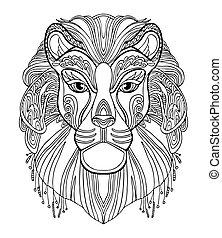 vettore, leone, coloritura