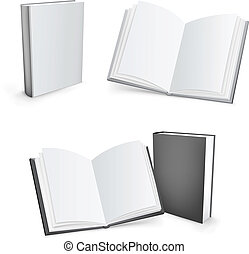 vettore, libri, 3d