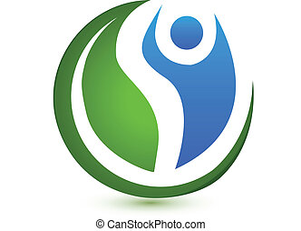 vettore, logotipo, concetto, wellness