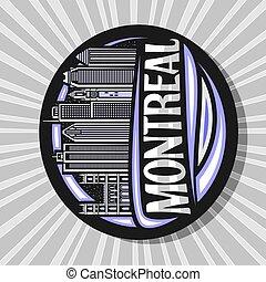 vettore, logotipo, montreal