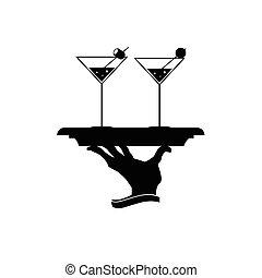 vettore, martini, illustrazione