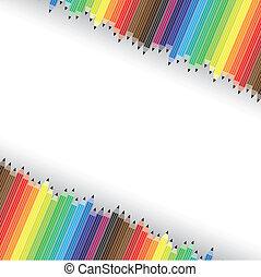 vettore, matite, grafico, colorito, diagonale, background-, file