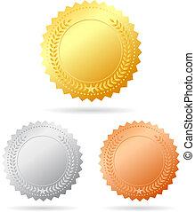 vettore, medaglie