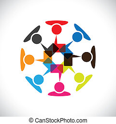 vettore, media, concetto, &, comunicazione, interazione, sociale, graphic-