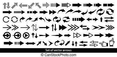vettore, mega, freccia, set, arrows., icon.