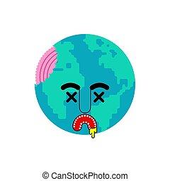 vettore, morto, disaster., pianeta, vita, illustrazione, no, earth.