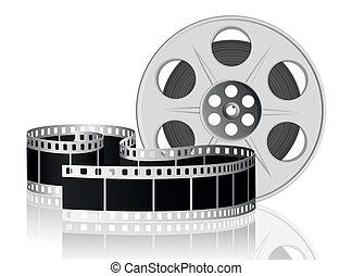 vettore, movie., illustration., film, torto