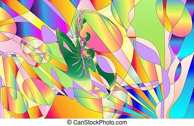 vettore, multicolore, dolce, carino, fondo., astratto, colorato, moderno, illustrazione, pendenza