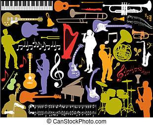 vettore, musica, elements.