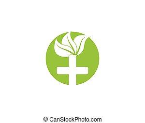 vettore, natura, salute, logotipo