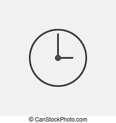 vettore, nero, color., icona, eps10, orologio, illustrazione